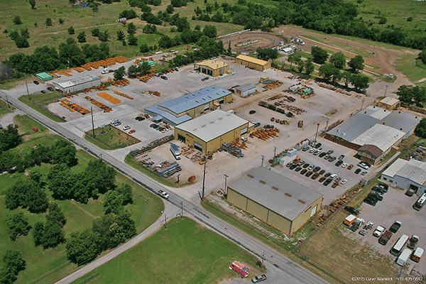 DMI International Inc Tulsa location aerial view of property